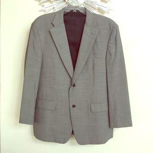 Haggar Black Label gray Dress Jacket coat 44R
